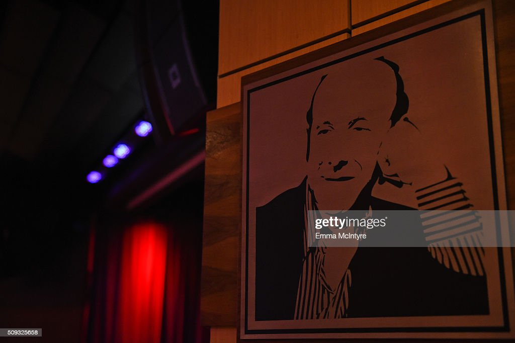A view of the Clive Davis Theater at Icons of the Music Industry at The GRAMMY Museum on February 9, 2016 in Los Angeles, California.