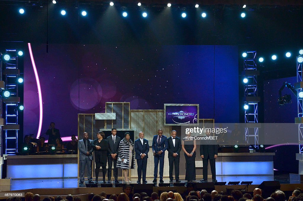 A view of the closing remarks onstage at BET Honors 2014 at Warner Theatre on February 8, 2014 in Washington, DC.