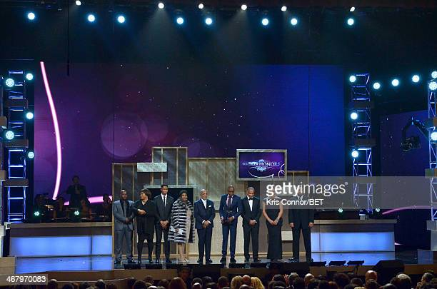 A view of the closing remarks onstage at BET Honors 2014 at Warner Theatre on February 8 2014 in Washington DC