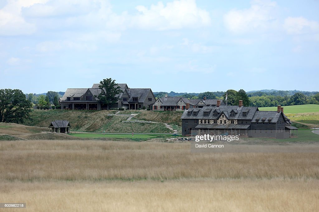 A view of the clubhouse and lodge complex during the USGA Media Day at Erin Hills Golf Course the venue for the 2017 US Open Championship on August 29, 2016 in Erin, Wisconsin.
