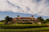 A view of the clubhouse during practice for the Webcom Tour Championship at TPC Sawgrass Dye's Valley Course on September 17 2014 in Ponte Vedra...