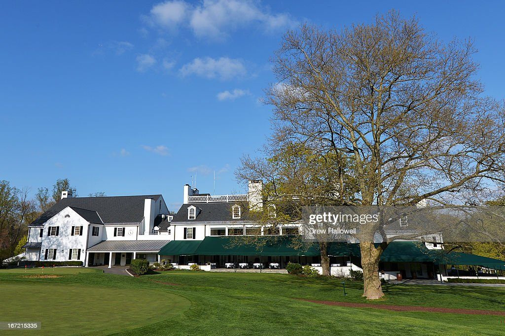 A view of the clubhouse on the East Course at Merion Golf Club on April 22, 2013 in Ardmore, Pennsylvania. Merion Golf Club is the site for the 2013 U.S. Open that will be played June 13-16.