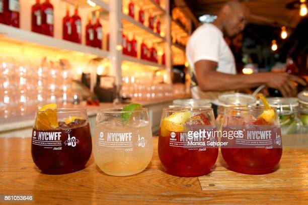 A view of the cocktails being served during Aperitivo hosted by Scott Conant at The Standard High Line on October 13 2017 in New York City
