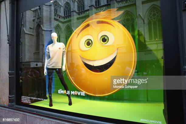 A view of the collection on display at the Saks Fifth Avenue and Sony Picture Animation's celebration of 'The Emoji Movie' at Saks Fifth Avenue on...