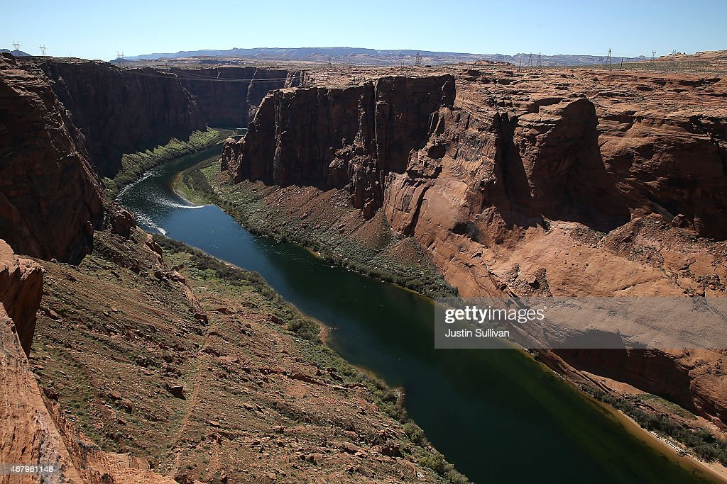 A view of the Colorado River on March 28 2015 in Page Arizona As severe drought grips parts of the Western United States a below average flow of...
