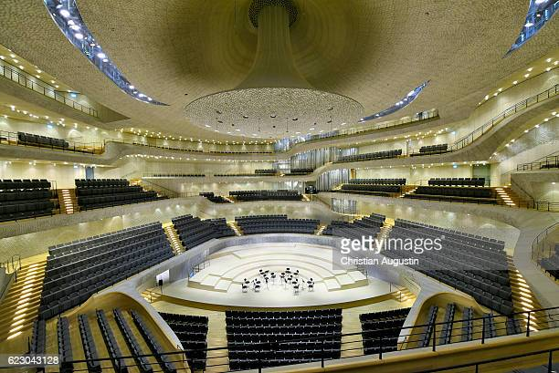 A view of the concert hall of the Elbphilharmonie during a press event on November 13 2016 in Hamburg Germany
