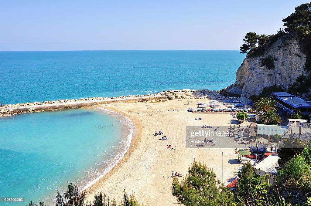 View of the Conero beach, near Sirolo : Stock Photo