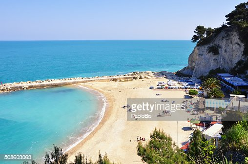 View of the Conero beach, near Sirolo : Stock Photo