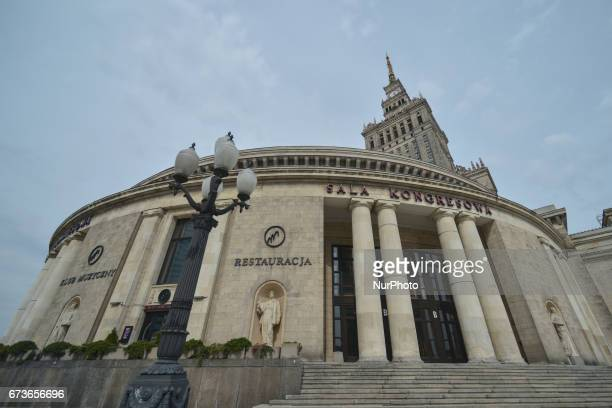 A view of the Congress Hall a part of the Palace of Culture and Science the tallest building in Poland On Tuesday April 26 in Warsaw Poland