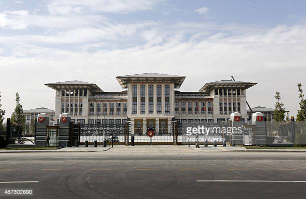A view of the construction of new presidential palace of Turkey built inside Ataturk Forest Farm in Ankara Turkey on October 16 2014