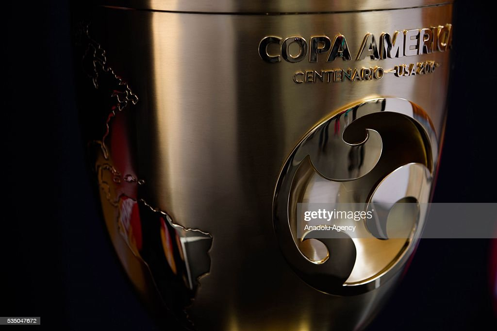A view of the Copa America Centenario Trophy during the Trophy Tour in Mexico City, Mexico on May 28, 2016. Copa America Centenario will be held in the United States from June 3 to 26, will also be the first time that the Copa America will be contested outside South America.