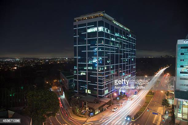 A view of the corner of Sunset Blvd and Cory Ave on the Sunset Strip home of Soho House BOA Steakhouse and Bootsybellows night club in West Hollywood...
