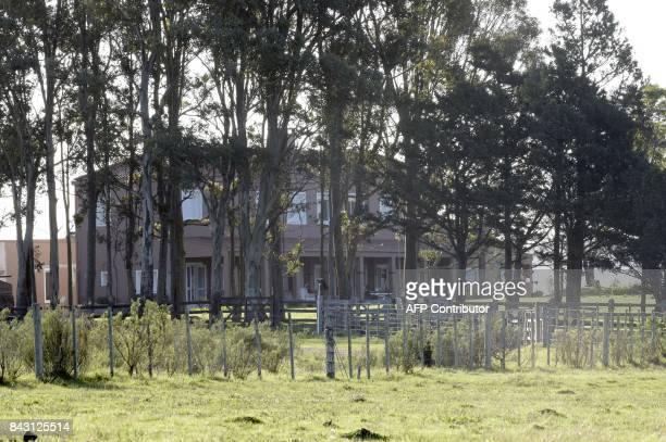 View of the country house of Italian mafia boss Rocco Morabito near the Laguna del Sauce a lake near Pan de Azucar in Uruguay on September 5 2017...