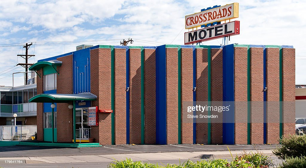 A view of the Crossroads Motel on September 02, 2013 in Albuquerque, New Mexico. Hank Schrader took Walter White Jr. to the Crossroads Motel (aka The Crystal Palace) for a scared straight experience in Season 1 episode, 'Bags in the River'. Jesse Pinkman was arrested at the Crossroads in Season 2 episode, 'Bit By a Dead Bee' and Wendy appeared here in 'Breaking Bad', Season 3, 'Half Measures'.