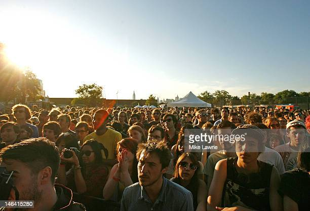 A view of the crowd as Jens Lekman performs during Northside Festival 2012 Day 2 on June 15 2012 in the Brooklyn burough of New York City