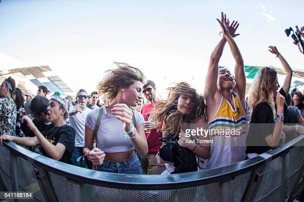 View of the crowd during day 3 of Sonar Festival 2016 on June 18 2016 in Barcelona Spain