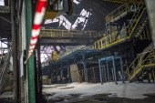 A view of the damage at Aperam stainless steel factory controlled by the Mittal family on December 24 2012 in Gueugnon central France after a fire...