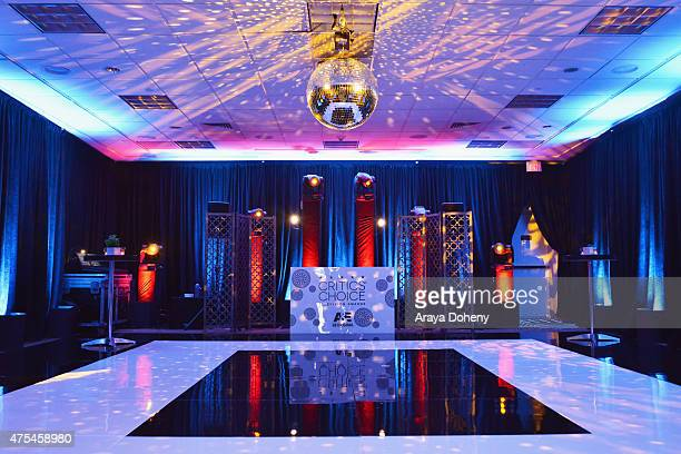 A view of the dance floor at the 5th Annual Critics' Choice Television Awards After Party at the Oasis Terrace at The Beverly Hilton Hotel on May 31...