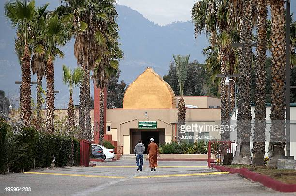 A view of the DarAlUloom AlIslamiyah of America mosque where shooting suspect Syed Farook used to attend prayer services on December 4 2015 in San...