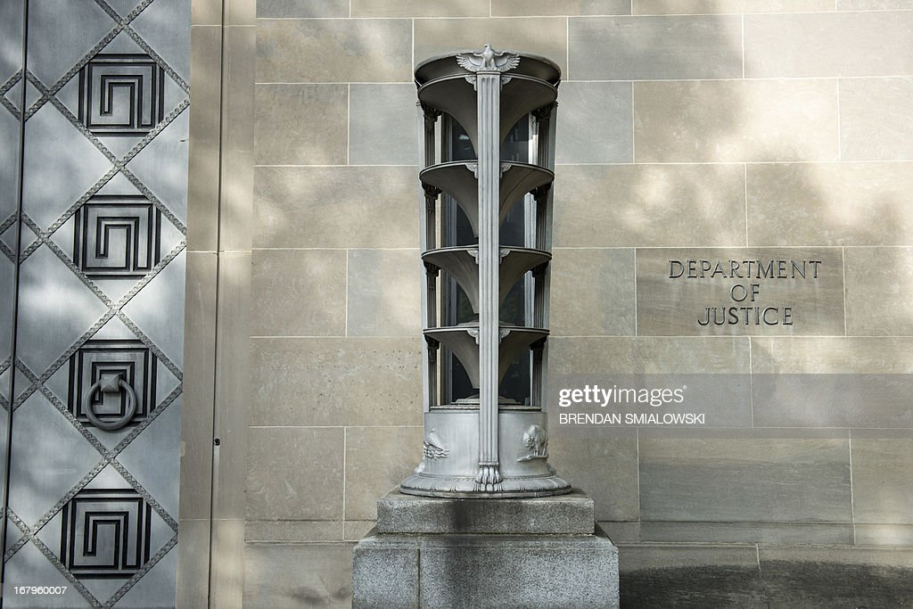 A view of the Department of Justice headquarters May 3, 2013 in Washington, DC. AFP PHOTO/Brendan SMIALOWSKI