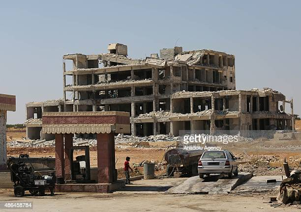 A view of the destroyed buildings in the Syrian town of Kobani after it was devastated by clashes involving Daesh on September 4 2015