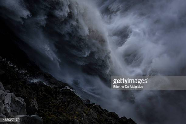 A view of the Dettifoss waterfall in Northeast Iceland on September 8 2014 in Iceland The waterfall location was featured in Ridley Scott's 2012...