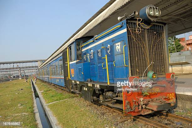 View of the diesel engine that pulls the Toy Train between Siliguri and Darjeeling in the Siliguri railyard The Darjeeling Himalayan Railway commonly...