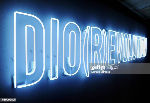 A view of the Dior signage at DIOR SS17 Collection Launch at Maxfield on April 5 2017 in Los Angeles California