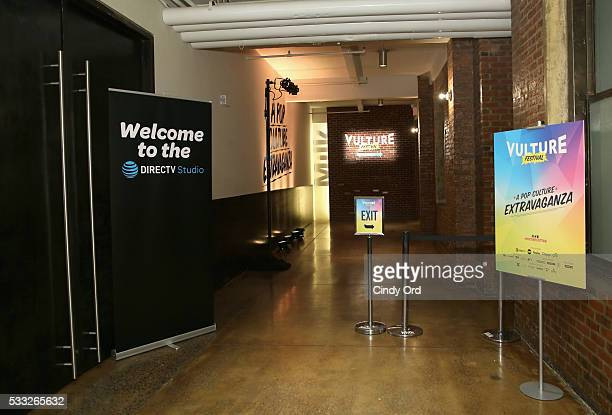 View of the DirecTV Studio pullup banner at the Vulture Festival at Milk Studios on May 21 2016 in New York City
