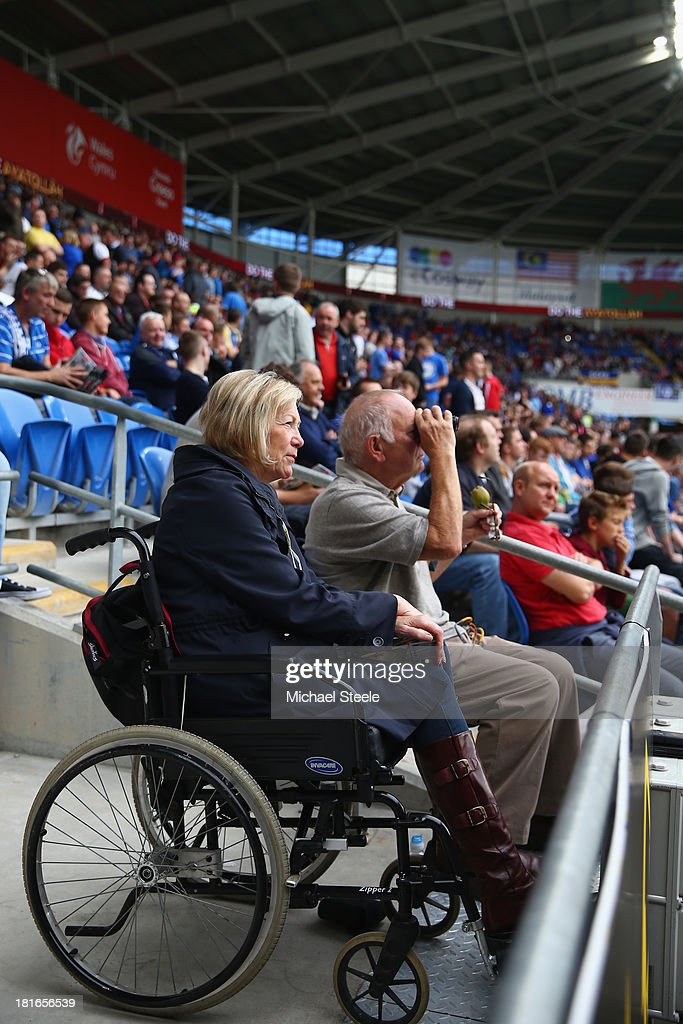 View of the disabled seating area during the Barclays Premier League match between Cardiff City and Tottenham Hotspur at Cardiff City Stadium on September 22, 2013 in Cardiff, Wales.