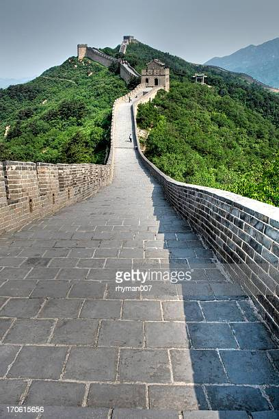 View of the distance of the Great Wall in China