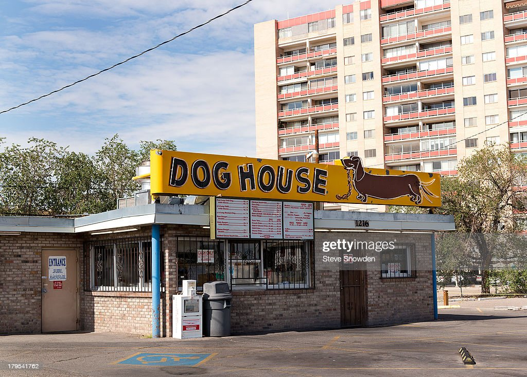 A view of The Dog House and its signs on September 02, 2013 in Albuquerque, New Mexico. The Dog House was seen during Seasons 1, 2, and 5 of AMCs 'Breaking Bad'. It seemed to be a favorite location of Jesse Pinkman for his various enterprises during the series.
