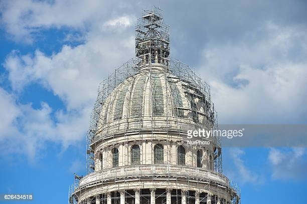 A view of the dome of El Capitolio On Monday 28 November 2016 in Havana Cuba