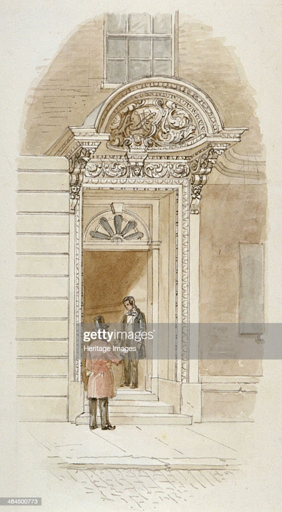 View of the doorway of no 4 Mincing Lane City of London 1840