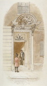 View of the doorway of no 4 Mincing Lane City of London 1840