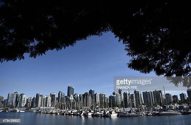 A view of the downtown area of Vancouver British Columbia is seen on July 3 2015 AFP PHOTO / FRANCK FIFE