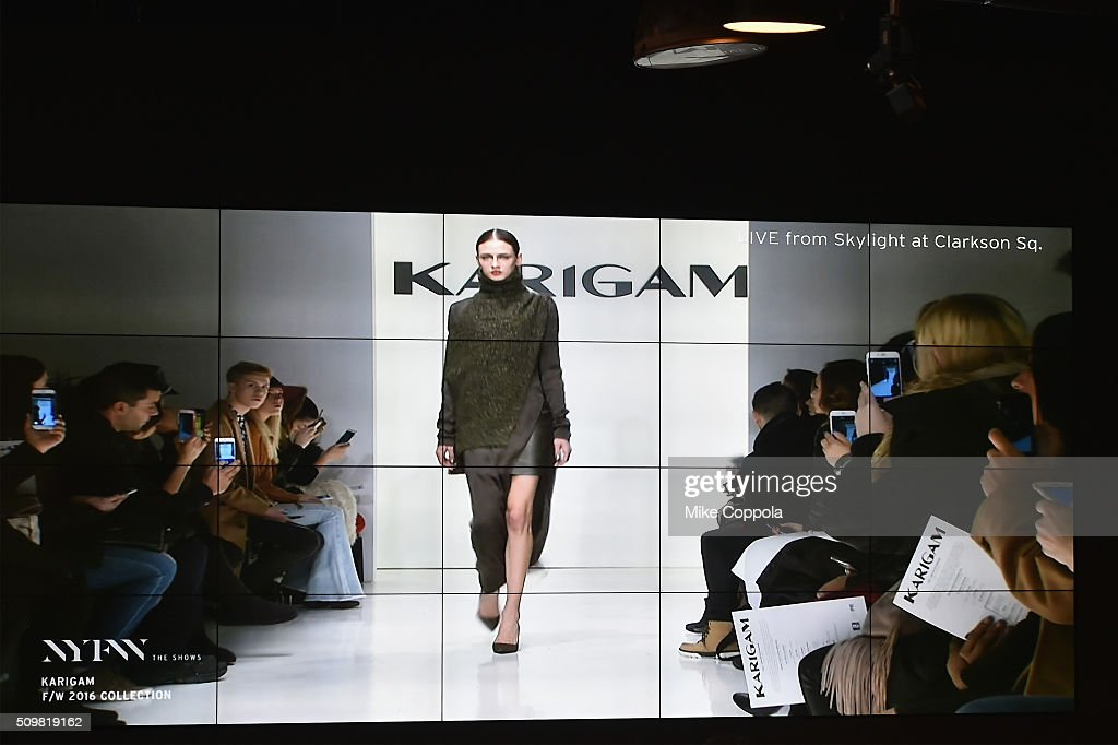 A view of the E Lounge during New York Fashion Week: The Shows at Moynihan Station on February 12, 2016 in New York City.
