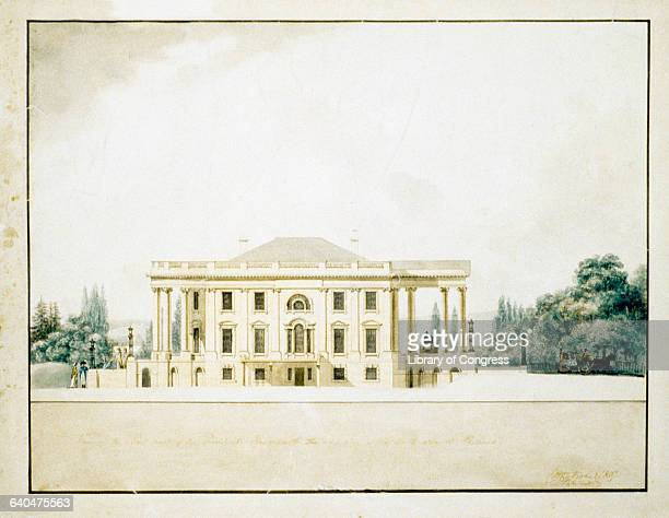 View of the East Front of the President's House by Benjamin Henry Latrobe