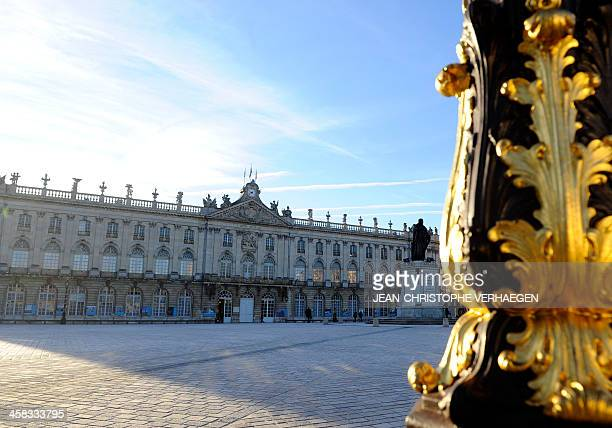 A view of the eastern France city of Nancy's town hall on the Stanislas square on December 20 2013 AFP PHOTO / JEANCHRISTOPHE VERHAEGEN