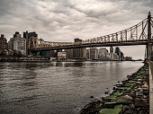 View of the Ed Koch Queensboro Brisge that unites Manhattan with Roosevelt Island.