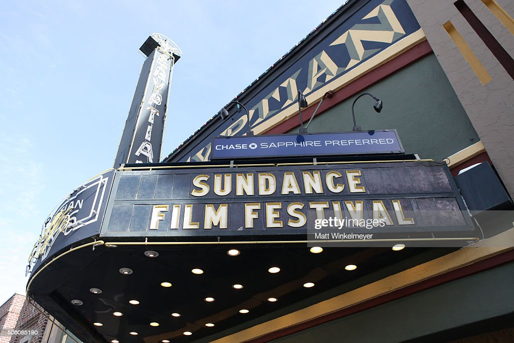 A view of The Egyptian Theater as Park City prepares for the 2016 Sundance Film Festival on January 24 2016 in Park City Utah