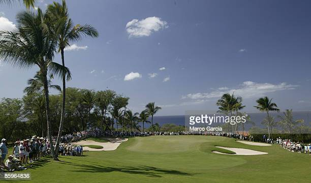 A view of the eighth green during the PGA TOUR's Wendy's Championship Skins Game February 6 2006 at the Wailea Golf Club in Wailea Maui Hawaii
