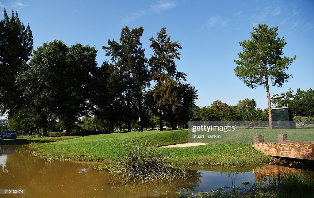 A view of the eighth hole during the final round of the Tshwane Open at Pretoria Country Club on February 14, 2016 in Pretoria, South Africa.