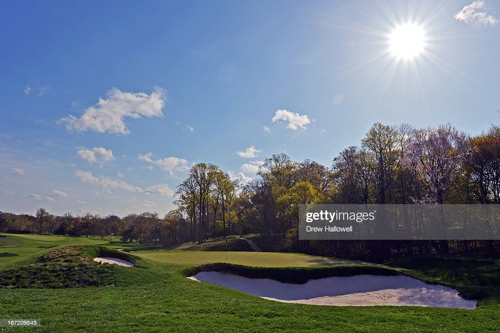 A view of the eighth hole on the East Course at Merion Golf Club on April 22, 2013 in Ardmore, Pennsylvania. Merion Golf Club is the site for the 2013 U.S. Open that will be played June 13-16.