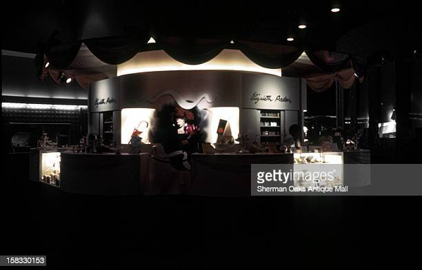 A view of the Elizabeth Arden display at night at the 1939 New York World's Fair in Flushing Meadows Queens New York City New York