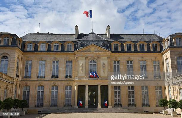 A view of the Elysee Palace where the deals and decisions forming the world's agenda are made opened for people to visit in Paris France on August 4...