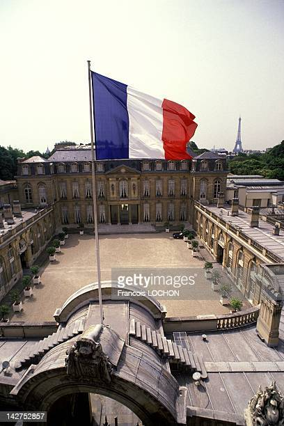 View of the Elysee Palais on May 07 1988 in Paris France