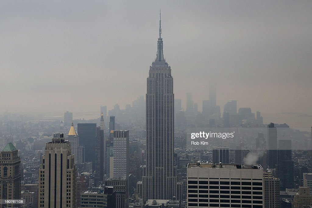 A view of the Empire State Building at the Top of the Rock Observation Deck at Rockefeller Center on February 5, 2013 in New York City.