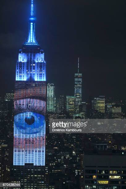 A view of The Empire State Building during Harper's BAZAAR 150th Anniversary Event presented with Tiffany Co at The Rainbow Room on April 19 2017 in...