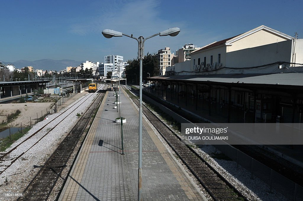 A view of the empty Athens central rail station during a 48-hours train strike in Athens on January 31, 2013. Greek trains and ferries ground to a halt and hospital staffing was cut to a minimum as transport workers and doctors went on strike to protest austerity measures demanded by the country's foreign lenders.